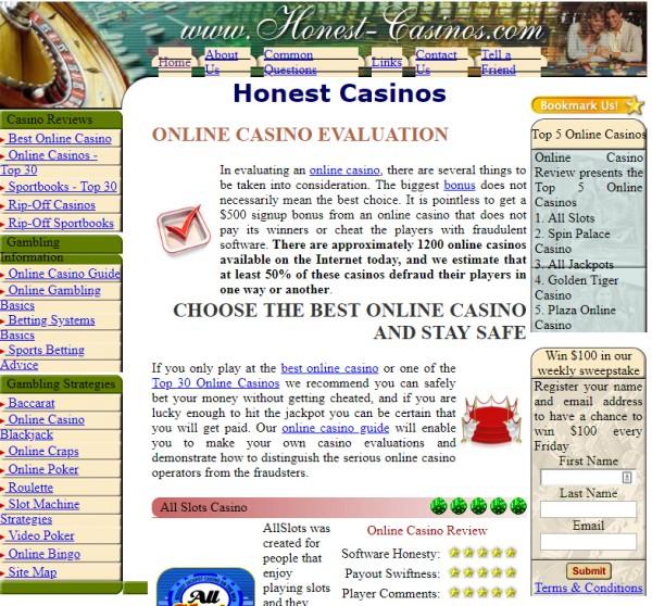 honest casinos 2009