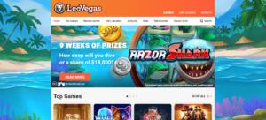 Screenshot Leovegas Review Casino