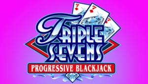 Triple Sevens logo progressive slot