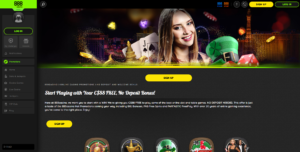 Casino 888 main page screenshot
